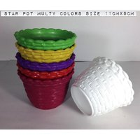 STAR POT 11 CM PACK OF 6PCS