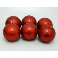 Nice Decorative Balls For Christmas Tree Set Of 6 Red