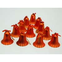 Christmas Tree Decorative Bells Set Of 12 Red
