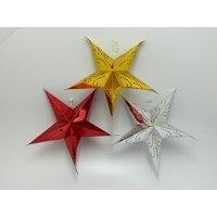 Christmas Tree Decorative Star Hanging Set Of 3