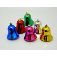 Multicolor Christmas Tree Hanging Bells Set Of 6