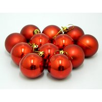 Beautiful Christmas Tree Decorative Hanging Balls Set Of 12 Red