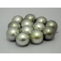 Beautiful Christmas Tree Decorative Hanging Balls Set Of 12 Silver