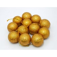 Christmas Tree Decorative Hanging Balls Set Of 12 Gold