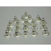 Christmas Tree Decorative Hanging Bells Set Of 20 Silver