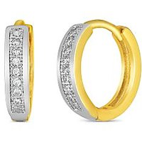 Mahi Gold Plated Single Line Pave Earrings With Cz For Women Er1100622G