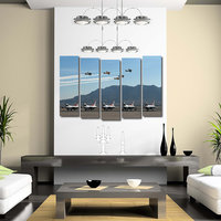 Flying Planes Like Modern Wall Art Painting - 5 Frames (148 X 76 Cms) 5Frames0054