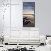 Bank Of Sea Like Modern Wall Art Painting -2 Frames (76x25 Cm) 2Frames0004