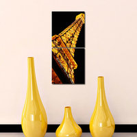 Eiffel Tower Modern Wall Art Painting-2 Frames (76x25 Cm) 2Frames0022