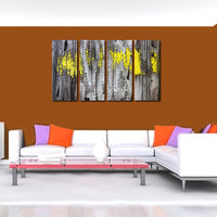 Wooden Wall Like Modern Wall Art Painting   - 4 Frames (127x76 Cm) 4Frames0024