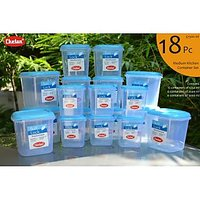 CHETAN 18 PC SET, PLASTIC KITCHEN STORAGE CONTAINERS AIRTIGHT [CLONE]