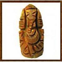 Carved Haldi Ganesh / Haridhra Vinayaka / Turmeric Ganapathi