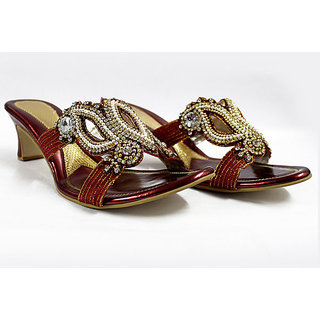 Diamond Studded Sandals - 6907306