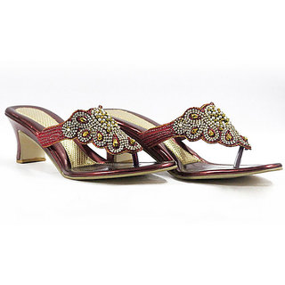 Diamond Studded Sandals - 6907672
