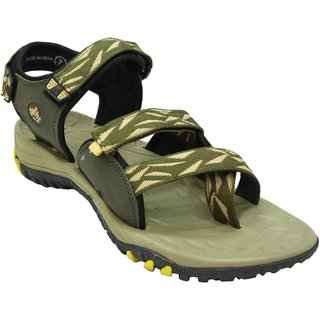 ABS Men's Mahendi & Yellow Stylish Sandals