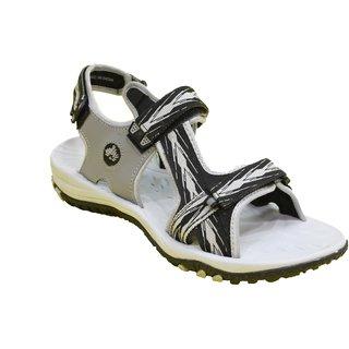 ABS Men's Grey & Black Arrow Design Sandals