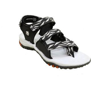 ABS Men's Grey & Black Stylish Sandals
