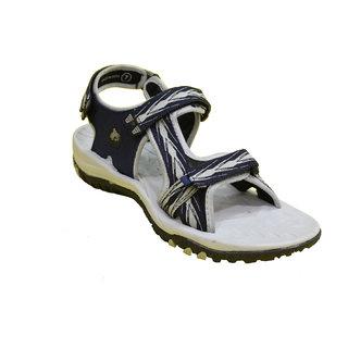 ABS Men's Grey & Blue Arrow Design Sandals