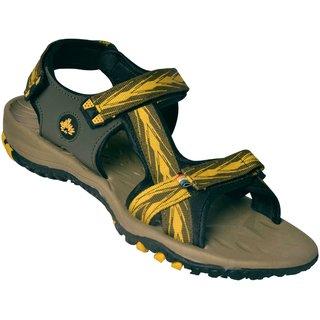 ABS Men's Mhn & Yellow Arrow Design Sandals