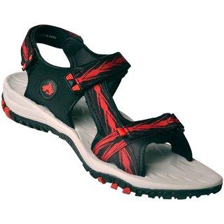 ABS Men's Grey & Red Arrow Design Sandals