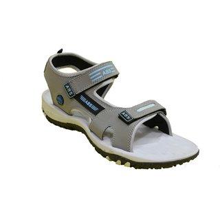 ABS Men's Grey & Grey Classy Sandals