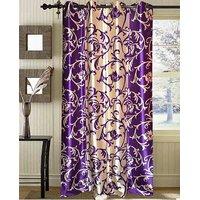 Blossom Violet & Cream Floral Vine Design Door Curtain